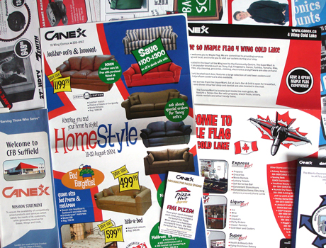 Flyers / Brochures / POP / Newspaper Ads - CANEX