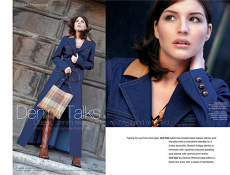 Fashion Spread - Denim Talks for SUSSEX Clothing