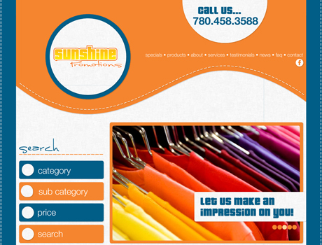 Website Re-Design - Sunshine Promotions