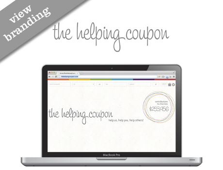 Branding - The Helping Coupon